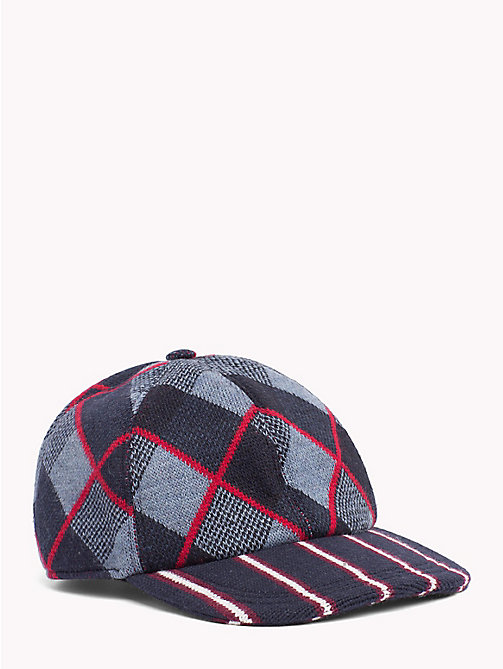 TOMMY HILFIGER Check Stripe Baseball Cap - NAVY BRIM - TOMMY HILFIGER Hilfiger Collection - main image