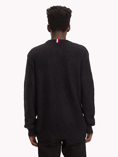 HILFIGER COLLECTION Pullover in mohair con stemma - JET BLACK - HILFIGER COLLECTION TOMMY NOW UOMO - dettaglio immagine 1