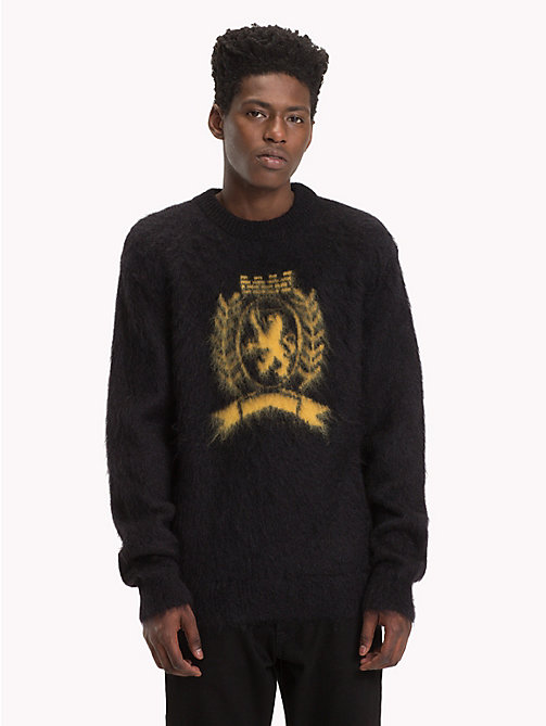 HILFIGER COLLECTION Crest Wool Jumper - JET BLACK - HILFIGER COLLECTION TOMMY NOW MEN - main image