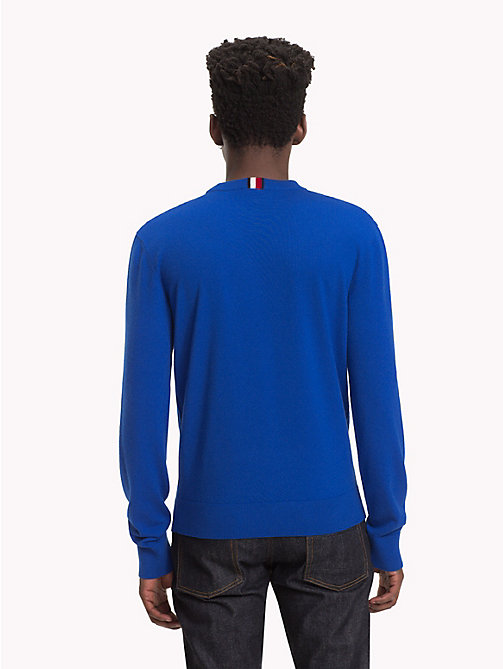 HILFIGER COLLECTION Wappen-Pullover mit Rundhalsausschnitt - SODALITE BLUE - HILFIGER COLLECTION TOMMY NOW HERREN - main image 1