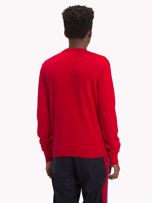 HILFIGER COLLECTION Crest Crew Jumper - BARBADOS CHERRY -  TOMMY NOW MEN - detail image 1