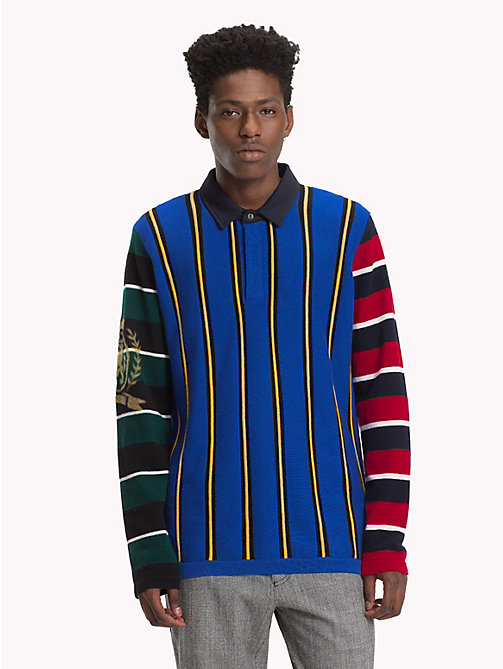 HILFIGER COLLECTION Striped Polo Shirt - SODALITE BLUE / MULTI - HILFIGER COLLECTION TOMMY NOW MEN - main image