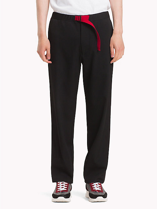 HILFIGER COLLECTION Pantalon sportswear en laine - JET BLACK - HILFIGER COLLECTION TOMMY NOW HOMMES - image principale