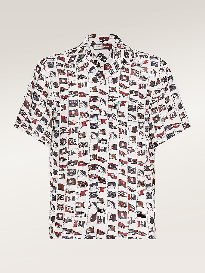 red tommy.com exclusive flag print shirt for men hilfiger collection