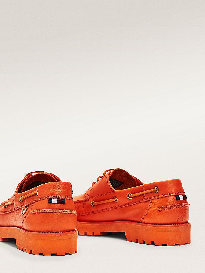 sconto più basso piuttosto economico migliore qualità Scarpe da barca chunky in pelle | ARANCIONE | Tommy Hilfiger