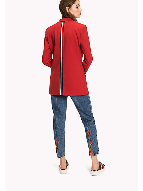 HILFIGER COLLECTION Wool Blend Tailored Jacket - TRUE RED - HILFIGER COLLECTION Women - detail image 1