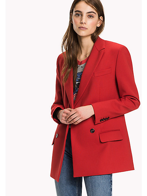HILFIGER COLLECTION Wool Blend Tailored Jacket - TRUE RED - HILFIGER COLLECTION Women - main image