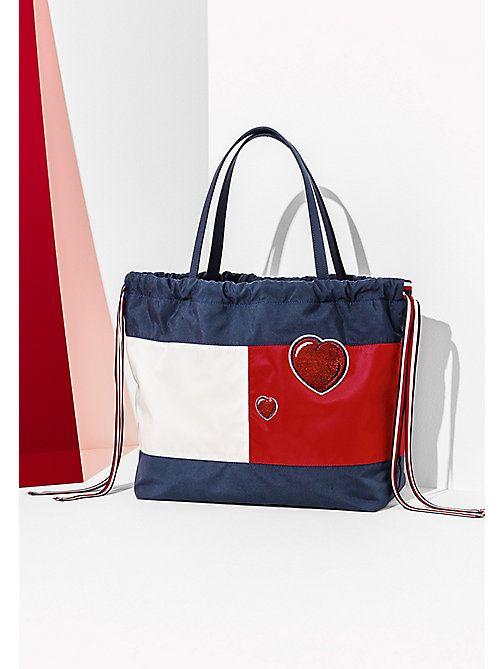HILFIGER COLLECTION Iconic Tommy Tote - PEACOAT / MULTI - HILFIGER COLLECTION Bags & Accessories - main image
