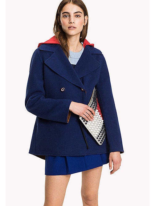 HILFIGER COLLECTION Cashmere Wool Peacoat - PEACOAT / MULTI - HILFIGER COLLECTION Coats & Jackets - main image