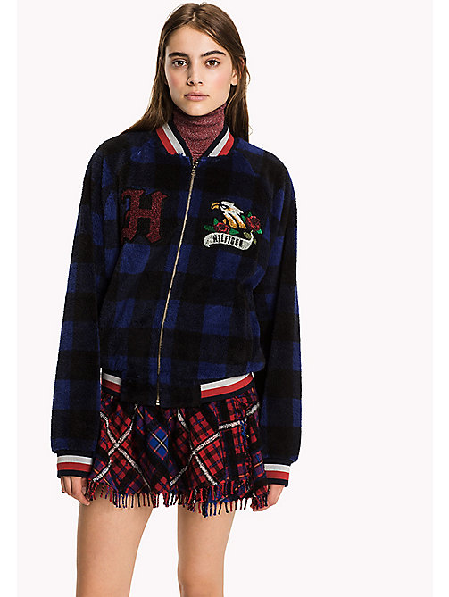 HILFIGER COLLECTION Tommy Tartan Fleece Bomber - PEACOAT MULTI - HILFIGER COLLECTION Women - detail image 1