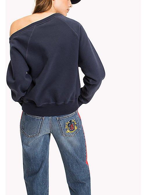 HILFIGER COLLECTION Schulterfreies Sweatshirt - PEACOAT - HILFIGER COLLECTION HILFIGER COLLECTION - main image 1