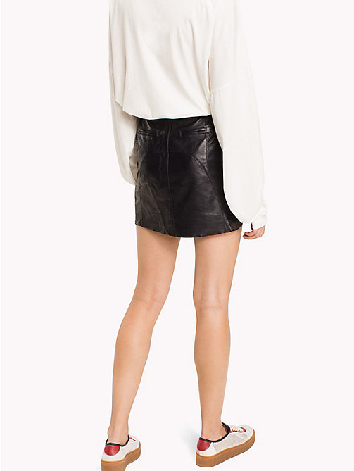 HILFIGER COLLECTION Leather Mini Skirt - DEEP WELL - HILFIGER COLLECTION HILFIGER COLLECTION - detail image 1