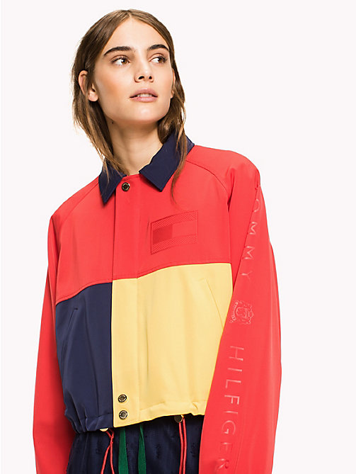 HILFIGER COLLECTION Cropped Colourblocked Jacket - Hilfiger Collection - TRUE RED / MULTI - HILFIGER COLLECTION HILFIGER COLLECTION - main image
