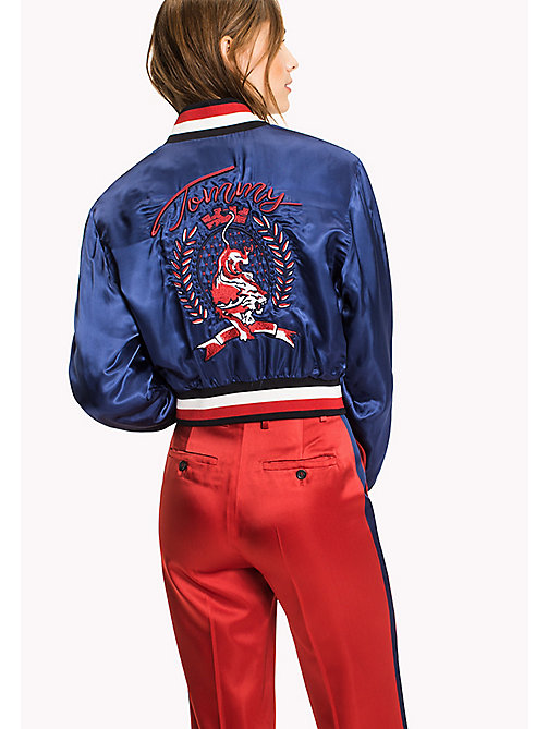 HILFIGER COLLECTION Cropped Bomber - Hilfiger Collection - BLUE DEPTHS - HILFIGER COLLECTION HILFIGER COLLECTION - detail image 1