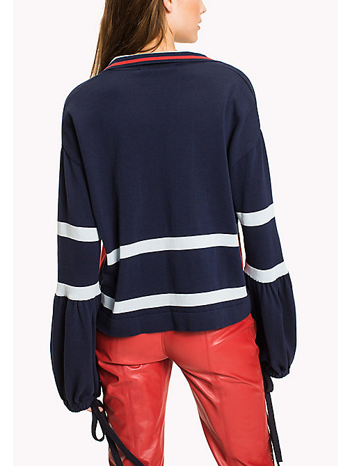 HILFIGER COLLECTION Tommy Stripe Sweater - PEACOAT - HILFIGER COLLECTION HILFIGER COLLECTION - detail image 1