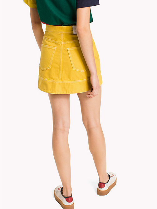 HILFIGER COLLECTION Denim Mini Skirt - Hilfiger Collection - SULPHUR -  Vacation Style - detail image 1