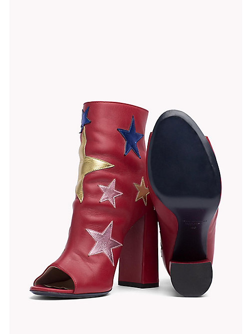 HILFIGER COLLECTION Leather Ankle Boot - Hilfiger Collection - TRUE RED / MULTI -  HILFIGER COLLECTION - detail image 1