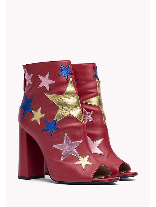 HILFIGER COLLECTION Leather Ankle Boot - Hilfiger Collection - TRUE RED / MULTI -  HILFIGER COLLECTION - main image
