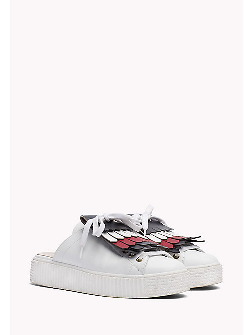 HILFIGER COLLECTION Fringed Slip-On Sneaker - SNOW WHITE - HILFIGER COLLECTION HILFIGER COLLECTION - main image