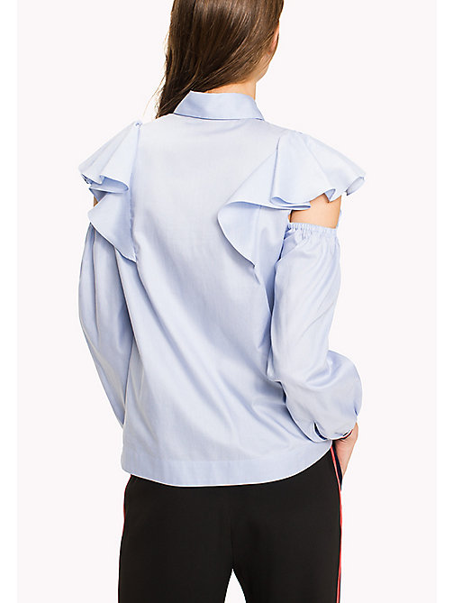 HILFIGER COLLECTION Feminine Frill Shirt - Hilfiger Collection - HEATHER - HILFIGER COLLECTION HILFIGER COLLECTION - detail image 1