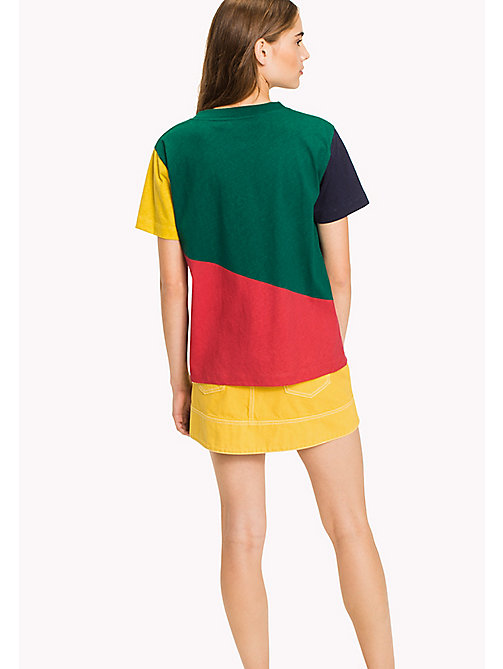 HILFIGER COLLECTION Color-Blocked T-Shirt - EVERGREEN / MULTI -  HILFIGER COLLECTION - detail image 1