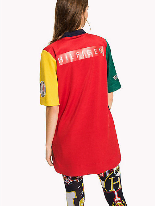 HILFIGER COLLECTION Color-Blocked Polo Dress - TRUE RED / MULTI -  Hilfiger Collection - detail image 1