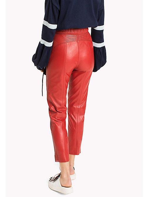 HILFIGER COLLECTION Leather Joggers - TRUE RED - HILFIGER COLLECTION HILFIGER COLLECTION - detail image 1