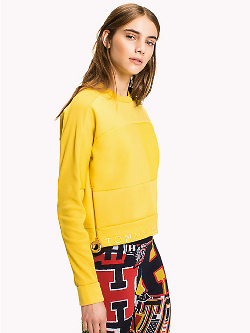 HILFIGER COLLECTION Sweat-shirt avec logo drapeau - SULPHUR - HILFIGER COLLECTION Pulls & Sweats - image principale