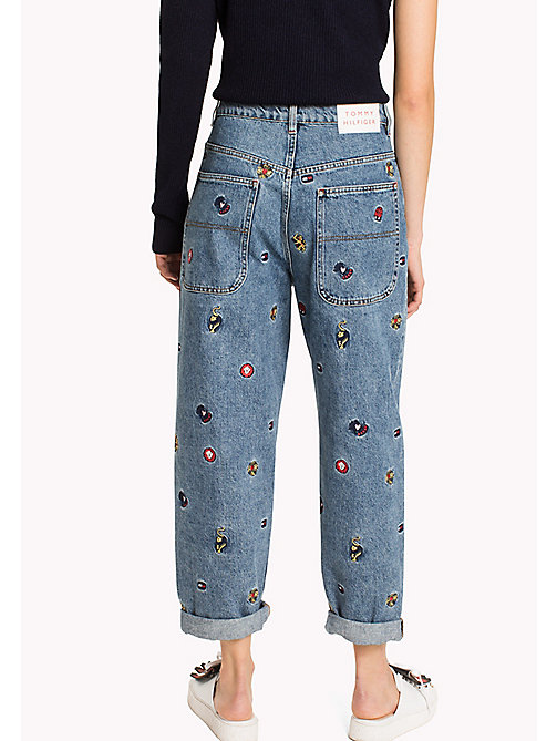 HILFIGER COLLECTION Jeans con stampa animaletti - VINTAGE WASH - HILFIGER COLLECTION Girlfriend Jeans - dettaglio immagine 1