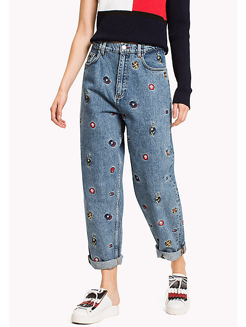 HILFIGER COLLECTION Jeans con stampa animaletti - VINTAGE WASH - HILFIGER COLLECTION Girlfriend Jeans - immagine principale