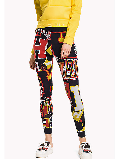 HILFIGER COLLECTION Legging avec logos - PEACOAT / MULTI - HILFIGER COLLECTION Pantalons & Shorts - image principale