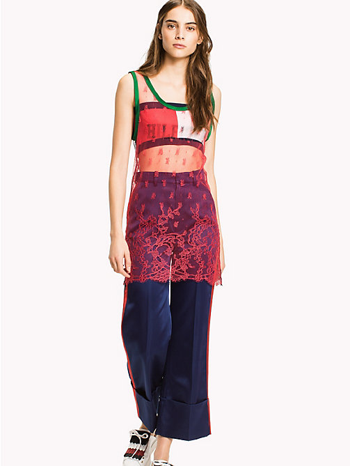 HILFIGER COLLECTION Sporty Lace Tank Dress - TRUE RED / MULTI - HILFIGER COLLECTION Mini - main image
