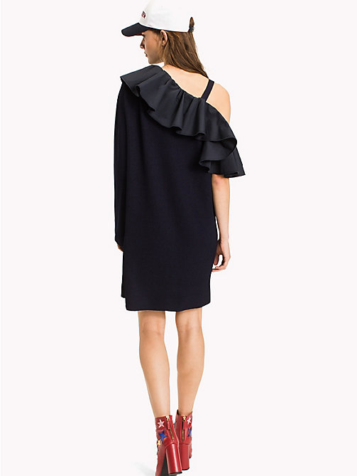 HILFIGER COLLECTION One Shoulder Dress - Hilfiger Collection - PEACOAT - HILFIGER COLLECTION Mini - detail image 1