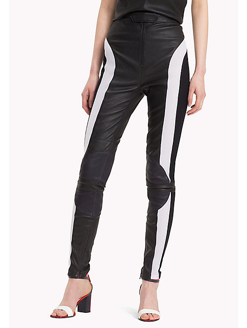HILFIGER COLLECTION Leather Moto Pant - METEORITE - HILFIGER COLLECTION HILFIGER COLLECTION - main image