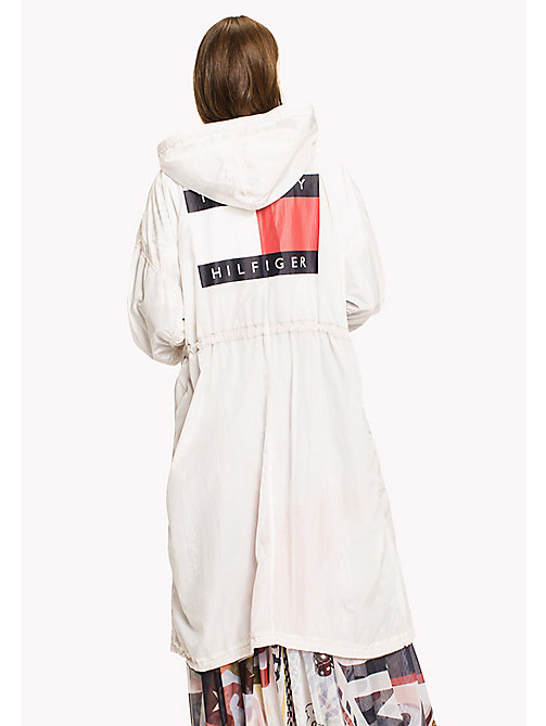 HILFIGER COLLECTION Parachute parka con bandiera - SNOW WHITE - HILFIGER COLLECTION Hilfiger Collection - dettaglio immagine 1
