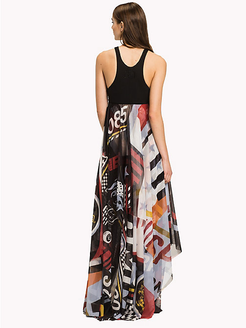 HILFIGER COLLECTION Maxi abito in tulle con stampa racer - METEORITE / MULTI - HILFIGER COLLECTION Maxi - dettaglio immagine 1
