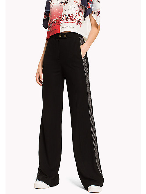 HILFIGER COLLECTION Flared Jersey Pant - METEORITE - HILFIGER COLLECTION Hilfiger Collection - main image