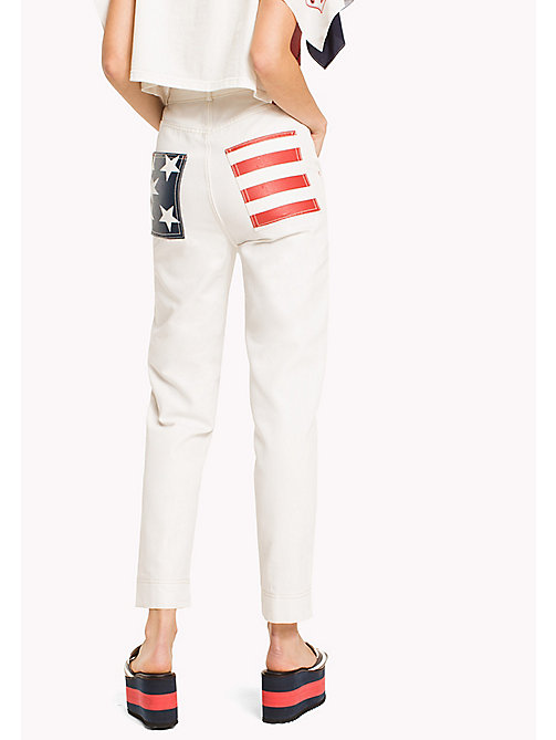 HILFIGER COLLECTION Tommy Flag Pocket Pant - SNOW WHITE - HILFIGER COLLECTION VACATION - detail image 1