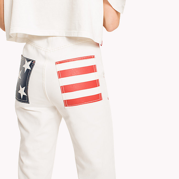HILFIGER COLLECTION Tommy Flag Pocket Pant - TOBACCO BROWN - HILFIGER COLLECTION Women - detail image 4