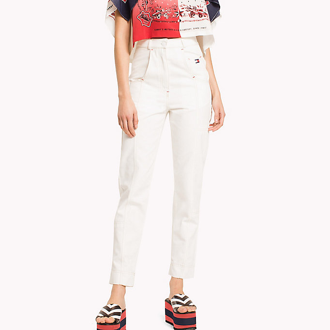 HILFIGER COLLECTION Tommy Flag Pocket Pant - TOBACCO BROWN - HILFIGER COLLECTION Women - main image