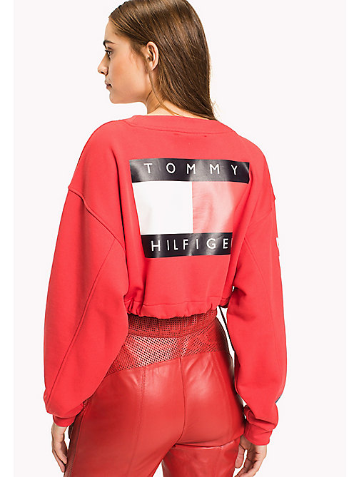 HILFIGER COLLECTION Cropped Logo Sweatshirt - TRUE RED - HILFIGER COLLECTION Hilfiger Collection - detail image 1