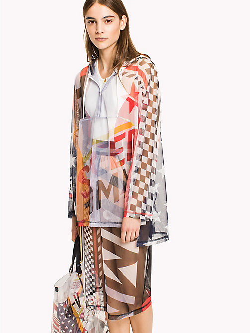 HILFIGER COLLECTION Sheer Logo Anorak - METEORITE / MULTI - HILFIGER COLLECTION HILFIGER COLLECTION - main image