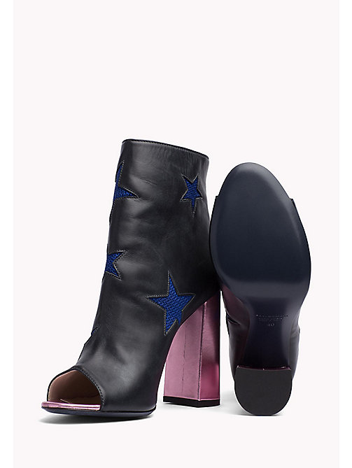 HILFIGER COLLECTION Ankle Boots aus Leder - MEDIEVAL BLUE / MULTI - HILFIGER COLLECTION Hilfiger Collection - main image 1