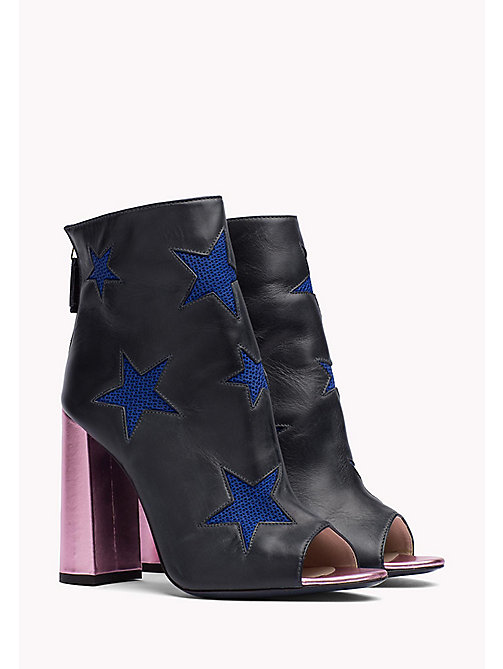 HILFIGER COLLECTION Ankle Boots aus Leder - MEDIEVAL BLUE / MULTI - HILFIGER COLLECTION Hilfiger Collection - main image
