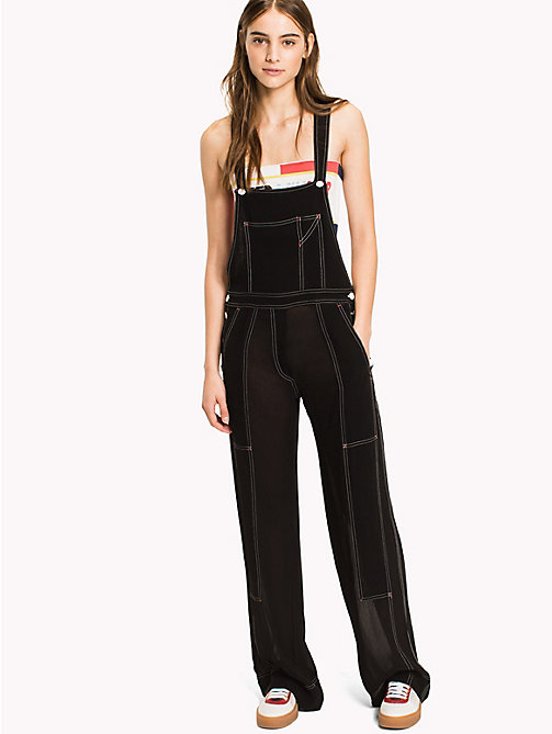 HILFIGER COLLECTION Sheer Overall - METEORITE -  Hilfiger Collection - main image