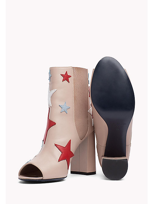 HILFIGER COLLECTION Star Peep-Toe Ankle Boot - NATURAL / MUTLI - HILFIGER COLLECTION HILFIGER COLLECTION - detail image 1