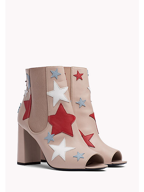 HILFIGER COLLECTION Star Peep-Toe Ankle Boot - NATURAL / MUTLI - HILFIGER COLLECTION HILFIGER COLLECTION - main image