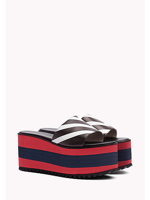 HILFIGER COLLECTION CHEVRON SLIP ON WEDGE - TRUE RED / MULTI - HILFIGER COLLECTION Hilfiger Collection - main image