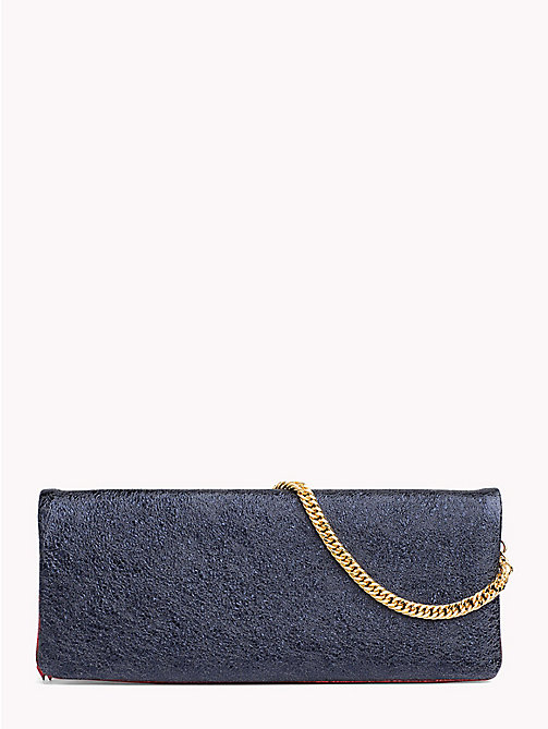 HILFIGER COLLECTION Leather Clutch - PEACOAT - HILFIGER COLLECTION Clutch Bags - main image