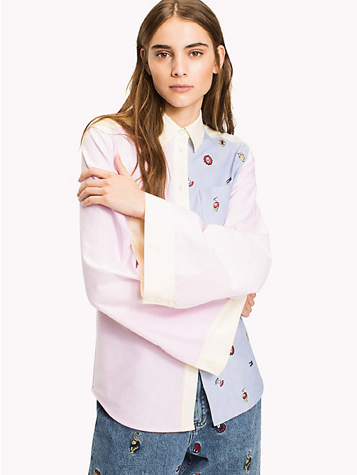 HILFIGER COLLECTION Critter Print Oxford Shirt - ORCHID PINK / MULTI -  Hilfiger Collection - main image